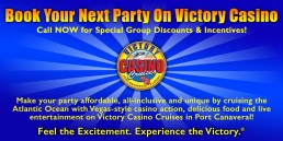 Book Your Next Party on Victory Casino
