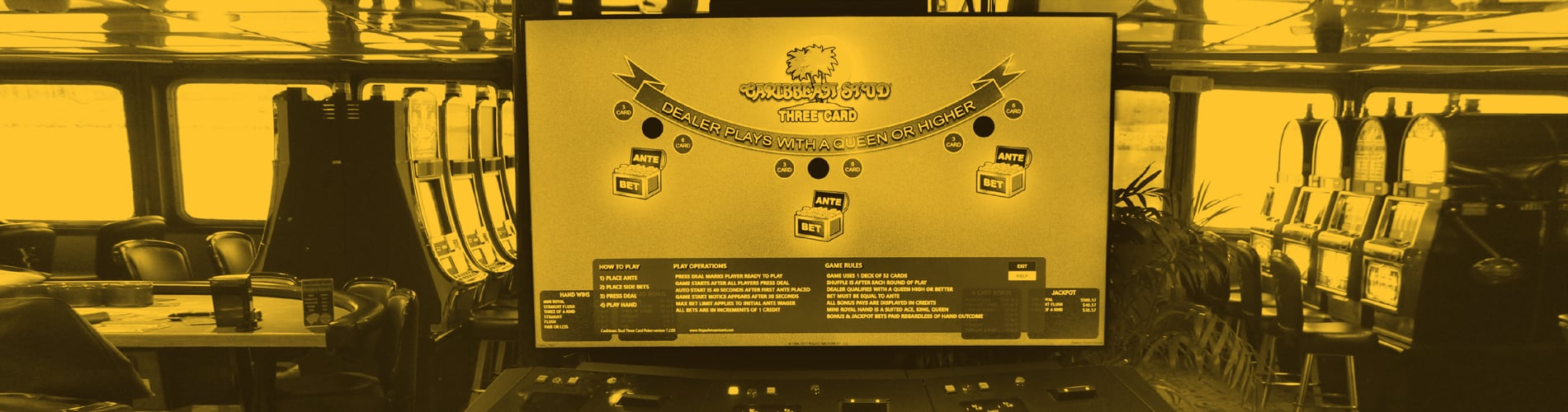 Electronic Caribbean Stud Poker | Victory Casino Cruises