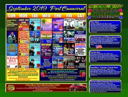 September 2019 Calendar of Events September 1st Trick Ropin' Trevor Dreher Noon September 2nd Labor Day Luau 11 Am September 2nd Blues Cruise with Derek Trull 7 PM September 3rd The Joe Show 11 AM September 4th Highway 1 11 AM September 5th Donna Moore's Diva Legends Show 11am September 6th Story's End 7 PM September 7th Honey Hounds 7 pm September 8th Peter Alden Noon September 9th Blues Cruise with Derek Trull 7 PM September 10th Rocky and The Rollers 11 am September 11th First Responder and Military Appreciation 11 am and 7 pm September 11th Highway 1 11 AM September 11th Non-Smoking Cruise 11 AM & 7 PM September 12th The Dukes 11 am September 13th Brandon Ray 7 pm September 14th Rocket City 11am September 14th Chasing Amy 7 PM September 15th Country Songwriters Cruise Noon September 15th 2019 Ford Escape Giveaway cruise Noon September 16th Blues Cruise with Derek Trull 7 PM September 17th The Joe Show 11 AM September 18th Birthday Bash Everyone with a birthday in July sails FREE AM & PM Cruise September 18th Highway 1 11 AM September 19th The Dukes 11 am September 20th Them Seeds 7 PM September 21st BeatleBeat: Beatles Tribute Show 11 am September 21st the incredible Hypnotist Richard Barker 7 PM September 22nd Asian Day Noon September 23rd Blues Cruise with Derek Trull 7 PM September 24th The Joe Show 11 AM September 25th Highway 1 11 AM September 25th Non-Smoking Cruise 11 AM & 7 PM September 26th Rocky and The Rollers 11 am September 27th Rock Candy 7 PM September 28th Jared Blake Bigg Vinny and Jared Weeks 11 am and 7 pm