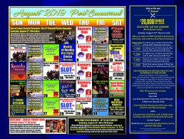 August 2019 Calendar of Events August 1st Donna Moore's Diva Legends Show 11am August 2nd 50 Shades of Summer 11 AM & 7 PM August 3rd 4th Annual Pirate Invasion 7PM August 4th Rocky and The Rollers Noon August 5th Blues Cruise with Derek Trull 7 PM August 6th Highway 1 11 AM August 7th The Joe Show 11 AM August 7th Hearts of Reality Pre-Party cruise 7 pm August 8th Donna Moore's Diva Legends Show 11 am August 9th August 10th Rocket City 11am August 10th SOCA Party 7 pm August 11th Spanks Noon August 12th Blues Cruise with Derek Trull 7 PM August 13th Rocky and The Rollers 11 am August 14th The Joe Show 11 AM August 14th Non-Smoking Cruise 11 AM & 7 PM August 15th Donna Moore's Diva Legends Show 11am August 16th Moonlight Drive-In 7 PM August 17th BeatleBeat: Beatles Tribute Show 11 am August 17th Nirvanna: Nirvana Tribute band 7 PM August 18th Country Songwriters Cruise Noon cruise August 19th Blues Cruise with Derek Trull 7 PM August 20th Highway 1 11 AM August 21st The Joe Show 11 AM August 21st Birthday Bash Everyone with a birthday in July sails FREE AM & PM Cruise August 22nd Donna Moore's Diva Legends Show 11am August 23rd Them Seeds 7 PM August 24th Jared Blake Bigg Vinny and Jared Weeks 11 am and 7 pm August 25th first annual $20,000 Dinner Dine-Around 7PM August 26th Blues Cruise with Derek Trull 7 PM August 27th Highway 1 11 AM August 28th The Joe Show 11 AM August 28th Non-Smoking Cruise 11 AM & 7 PM August 29th Rocky and The Rollers 11 am August 30th Anja and The Dreamers 9 PM