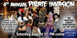 Garret Lauer Events Presents: The 4th Annual Pirate Invasion August 3rd