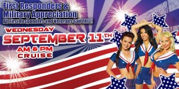 First Responders and Military Appreciation September 11th AM and PM cruise