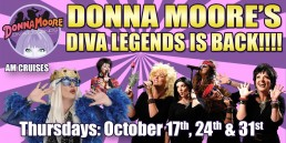 Donna Moore Thursdays, October 17th, 24th and 31st AM cruises