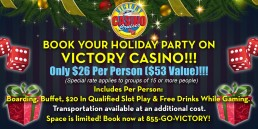 Book your Holiday Party on Victory Casino 2019